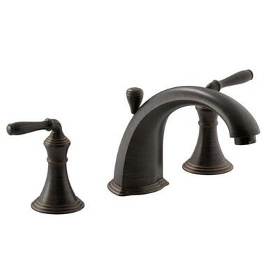 Devonshire Oil Rubbed Bronze 2 Handle Commercial Residential Deck Mount Roman Bathtub Faucet