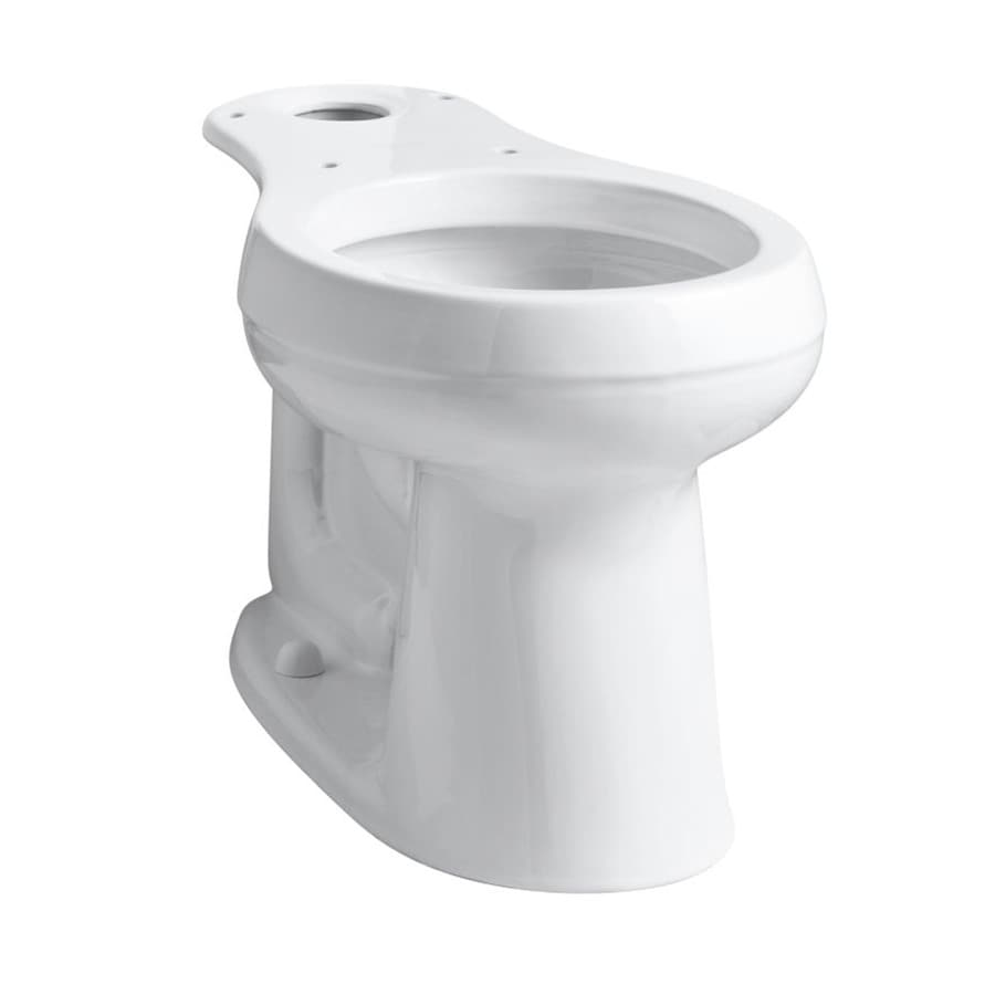 Kohler Cimarron White Round Chair Height Toilet Bowl