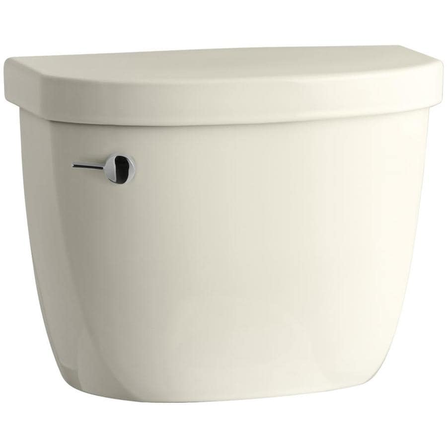 KOHLER Cimarron Almond 1.28-GPF (4.85-LPF) 12-in Rough-In Single-Flush High-Efficiency Toilet Tank
