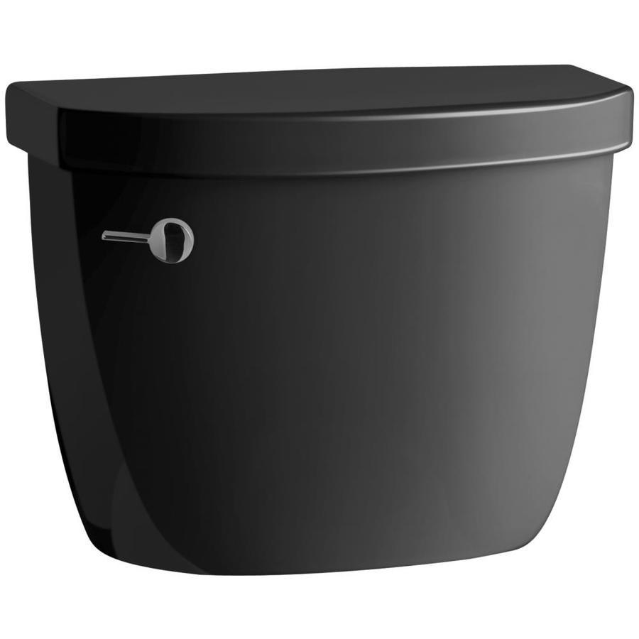 KOHLER Cimarron Black Black 1.28-GPF (4.85-LPF) 12-in Rough-In Single-Flush High-Efficiency Toilet Tank
