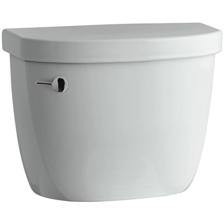 KOHLER Cimarron Ice Grey 1.28-GPF (4.85-LPF) 12-in Rough-In Single-Flush High-Efficiency Toilet Tank