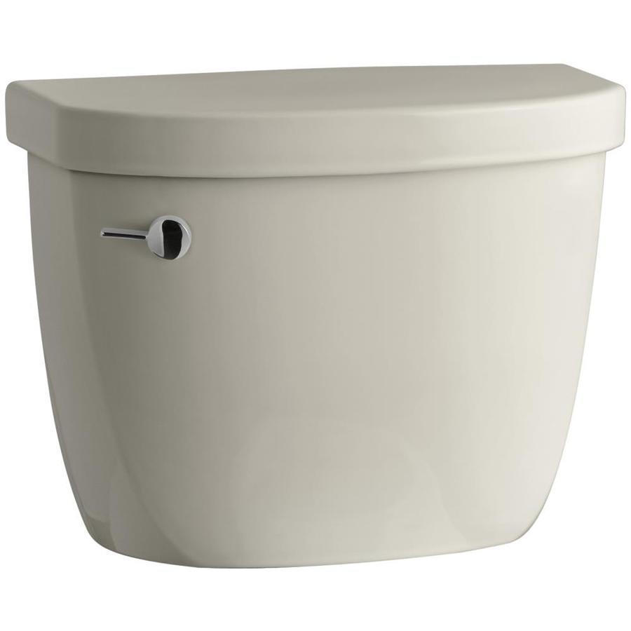 KOHLER Cimarron Sandbar 1.28-GPF Single-Flush High-Efficiency Toilet Tank