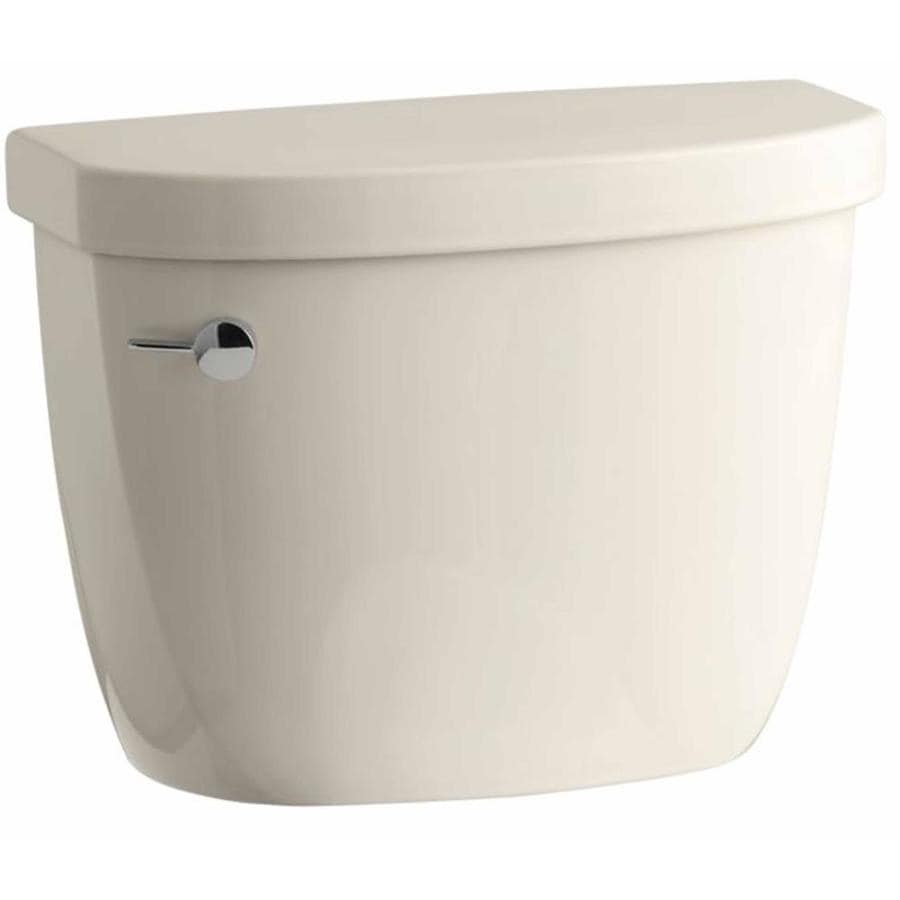 KOHLER Cimarron Almond 1.6-GPF (6.06-LPF) 12 Rough-In Pressure Assist Single-Flush High-Efficiency Toilet Tank