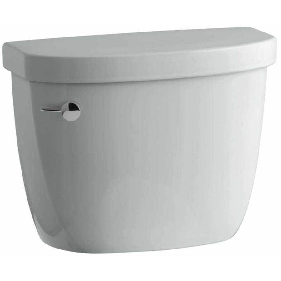 kohler cimarron ice grey singleflush toilet tank