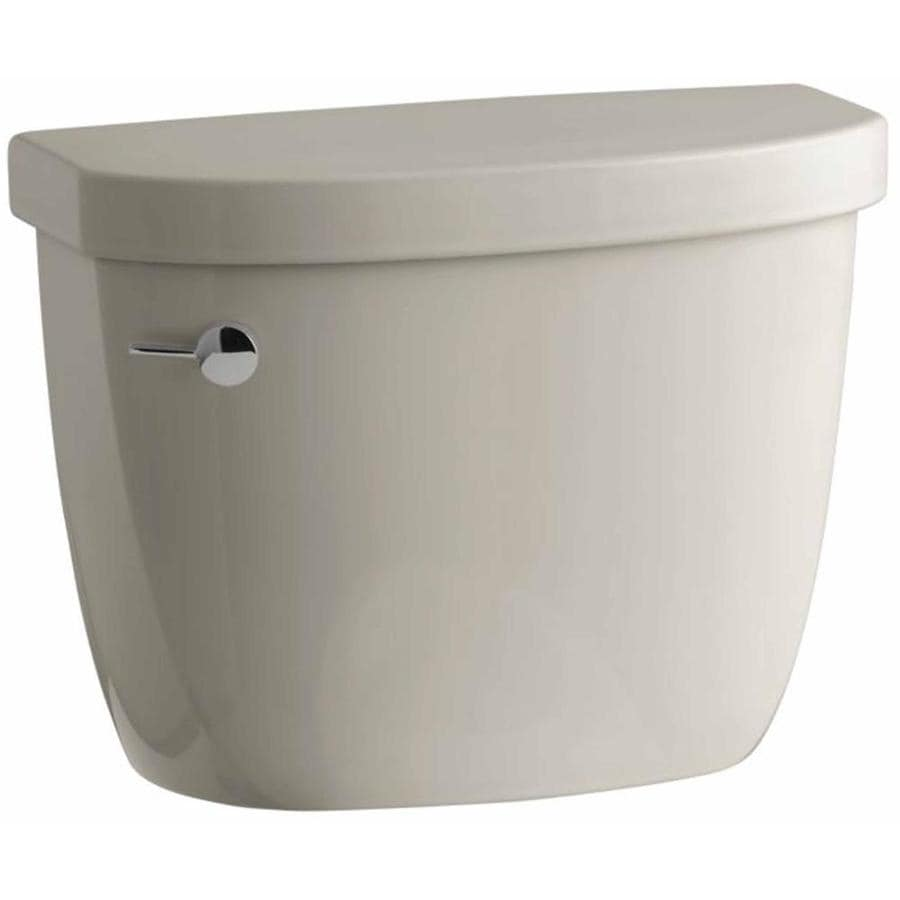 KOHLER Cimarron Sandbar 1.6-GPF Single-Flush High-Efficiency Toilet Tank