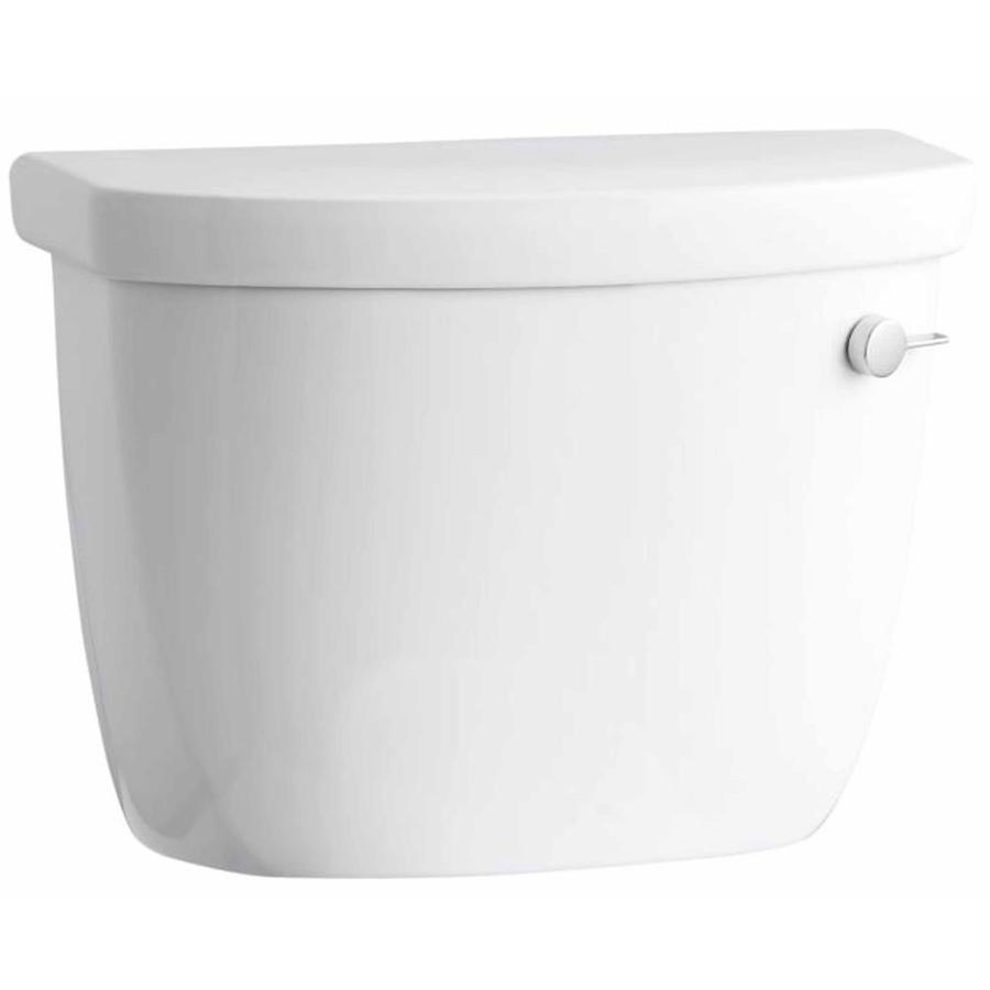 KOHLER Cimarron White 1.6-GPF Single-Flush High-Efficiency Toilet Tank