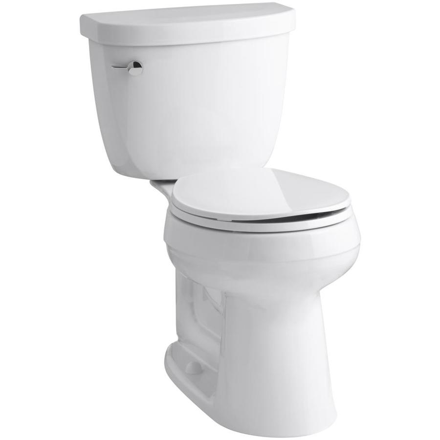 KOHLER Cimarron White WaterSense Chair Height 2-Piece Toilet