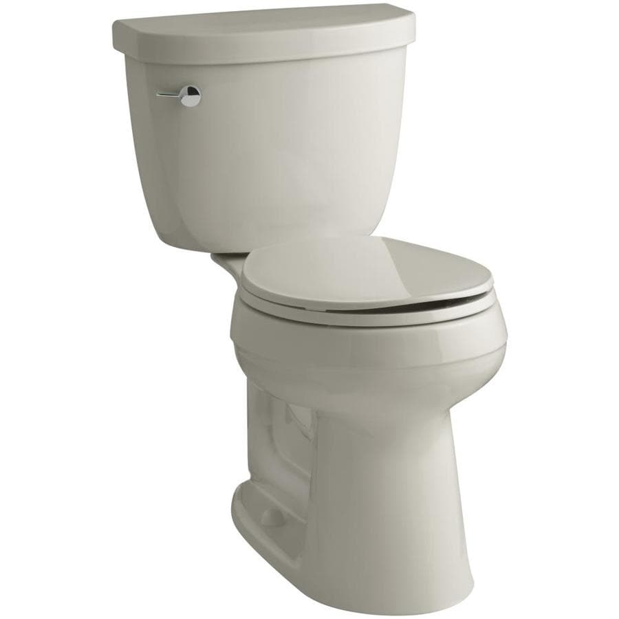 KOHLER Cimarron Sandbar WaterSense Labeled  Round Chair Height 2-piece Toilet 12-in Rough-In Size