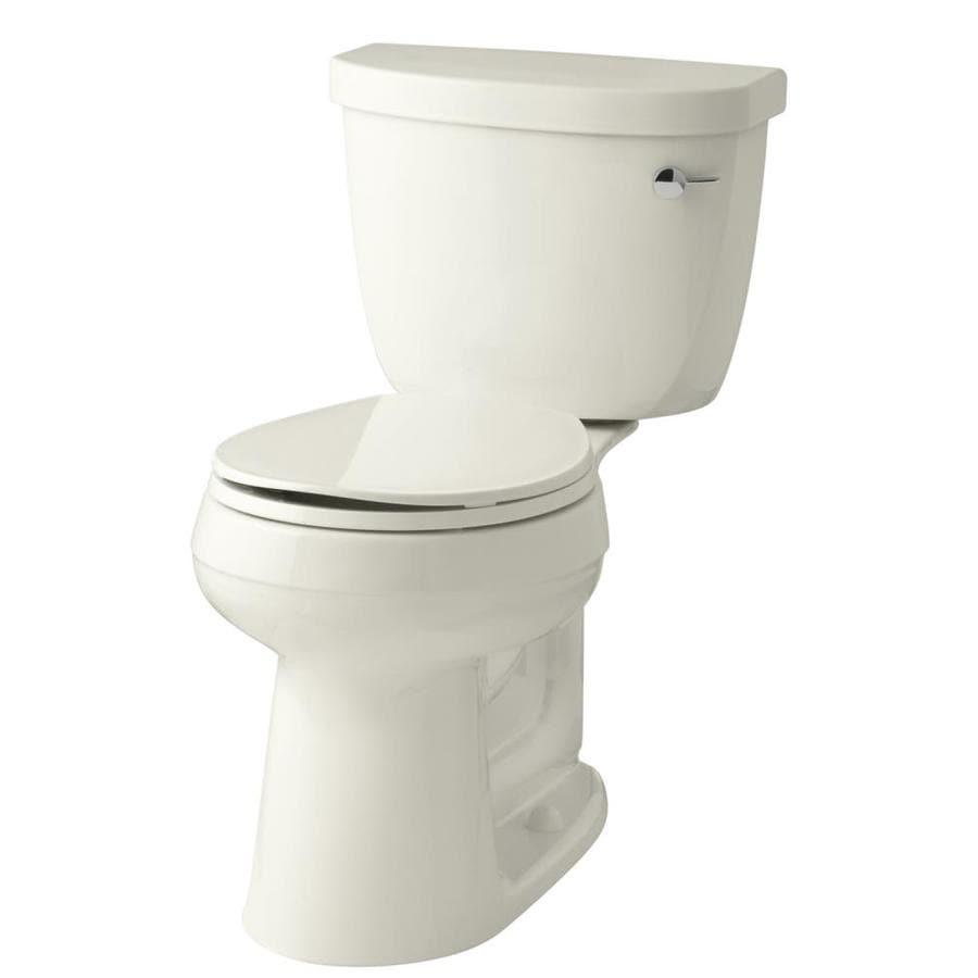 KOHLER Cimarron 1.28-GPF Biscuit WaterSense Round Chair Height 2-Piece Toilet