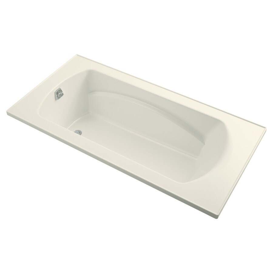 Sterling Lawson Biscuit Vikrell Rectangular Drop-in Bathtub with Reversible Drain (Common: 72-in x 36-in; Actual: 20.3125-in x 72-in x 36-in