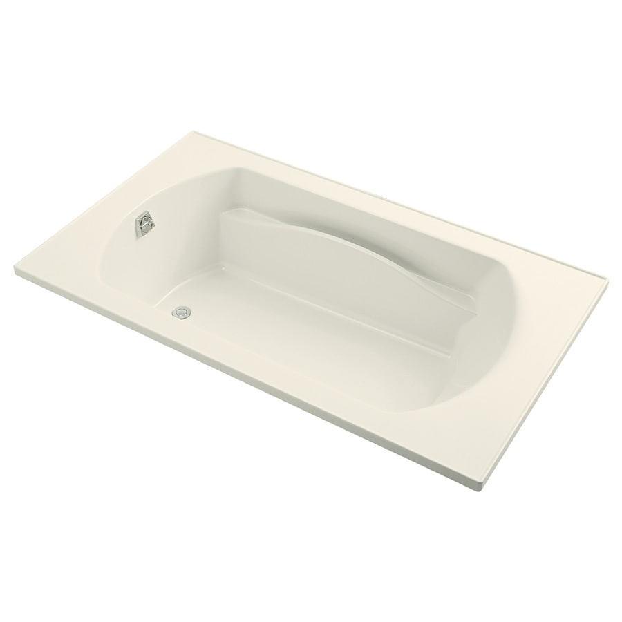 Sterling Lawson Biscuit Vikrell Rectangular Drop-in Bathtub with Reversible Drain (Common: 72-in x 42-in; Actual: 20.3125-in x 72-in x 42-in