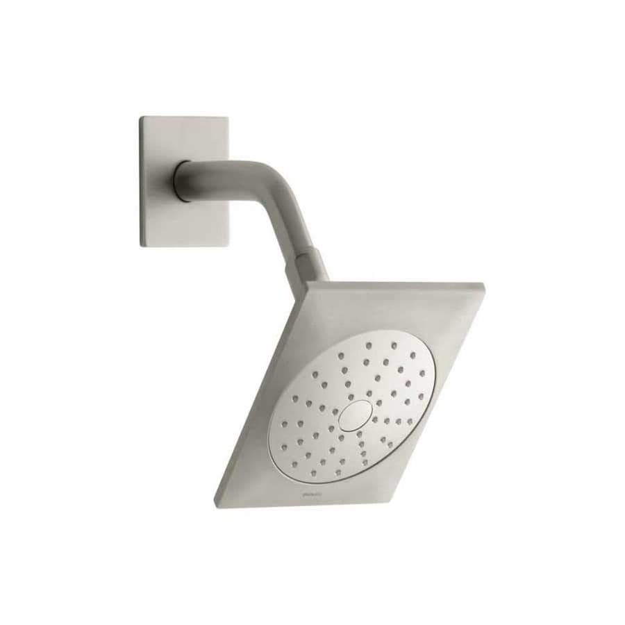 KOHLER Loure 6.3125-in 2.0-GPM (7.6-LPM) Vibrant Brushed Nickel 1-Spray WaterSense Showerhead