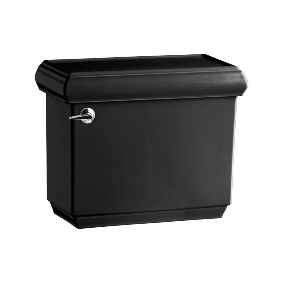 KOHLER Bancroft Black Black 1.28-GPF (4.85-LPF) 12-in Rough-in Single-Flush High-Efficiency Toilet Tank