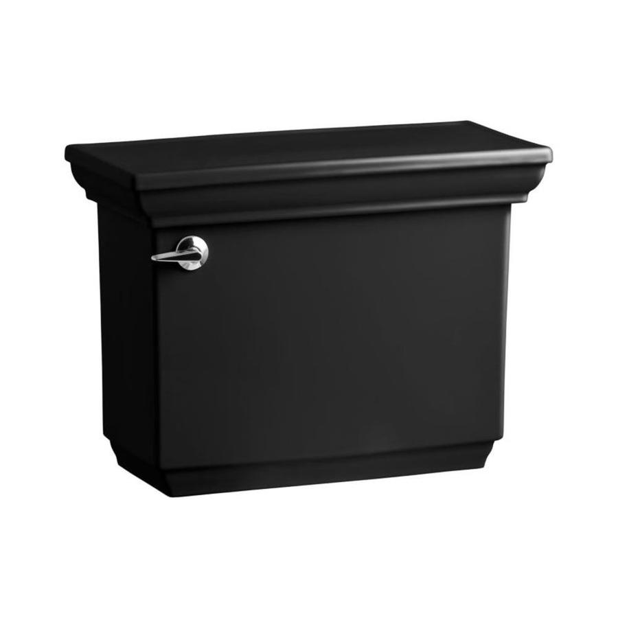KOHLER Memoirs Black Black 1.28-GPF (4.85-LPF) 12-in Rough-in Single-Flush High-Efficiency Toilet Tank