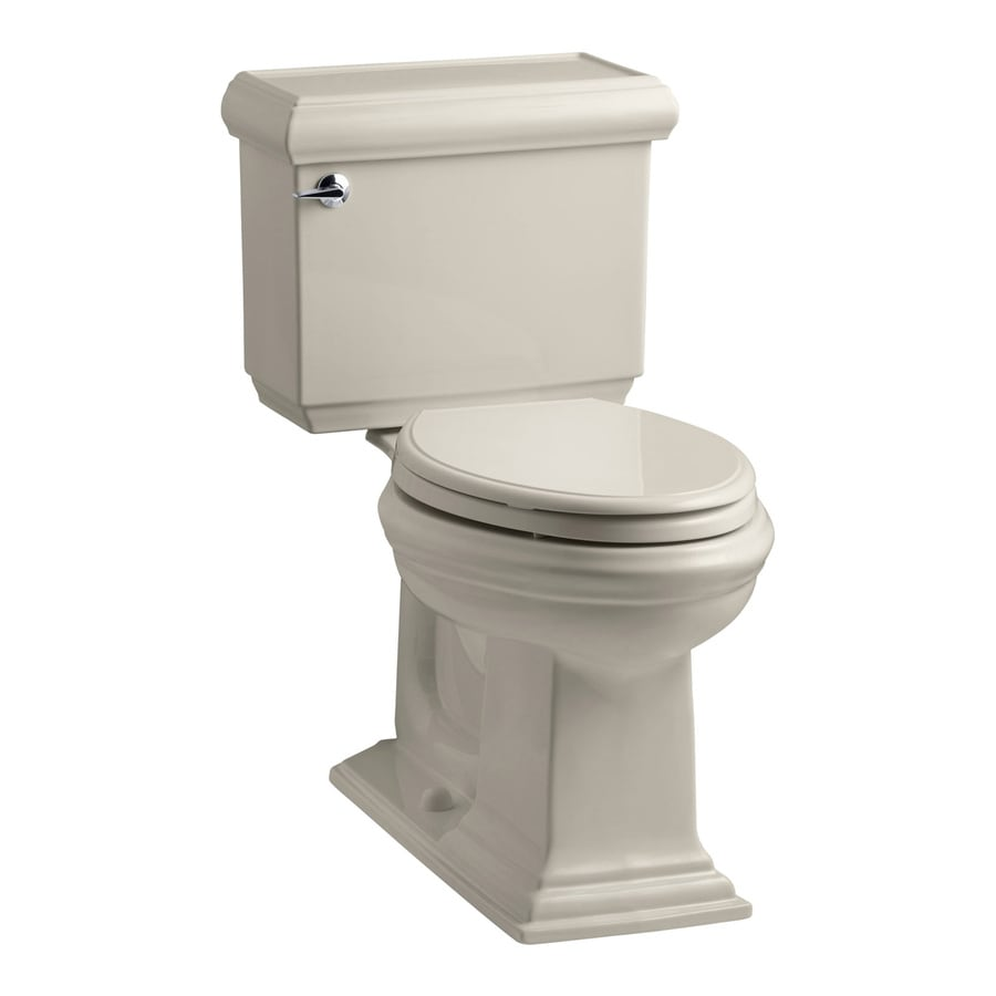 KOHLER Memoirs 1.28 Sandbar WaterSense Elongated Chair Height 2-Piece Toilet