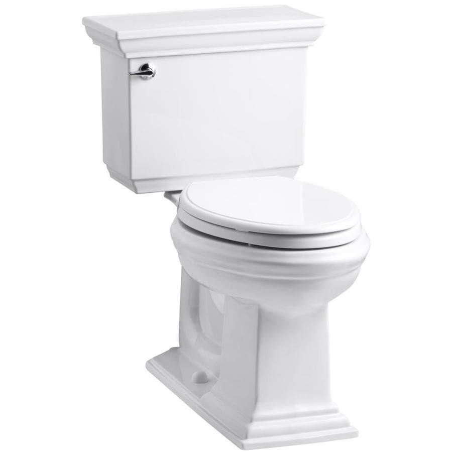 KOHLER Memoirs 1.28 White WaterSense Elongated Chair Height 2-Piece Toilet