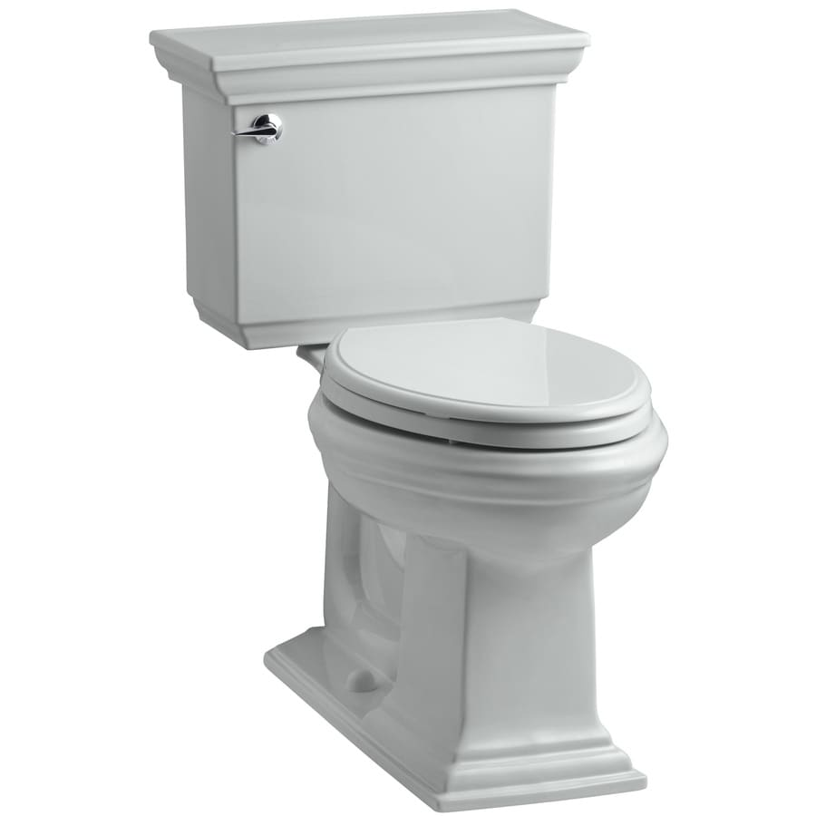 KOHLER Memoirs 1.28-GPF (4.85-LPF) Ice Grey Elongated Chair Height 2-piece Toilet