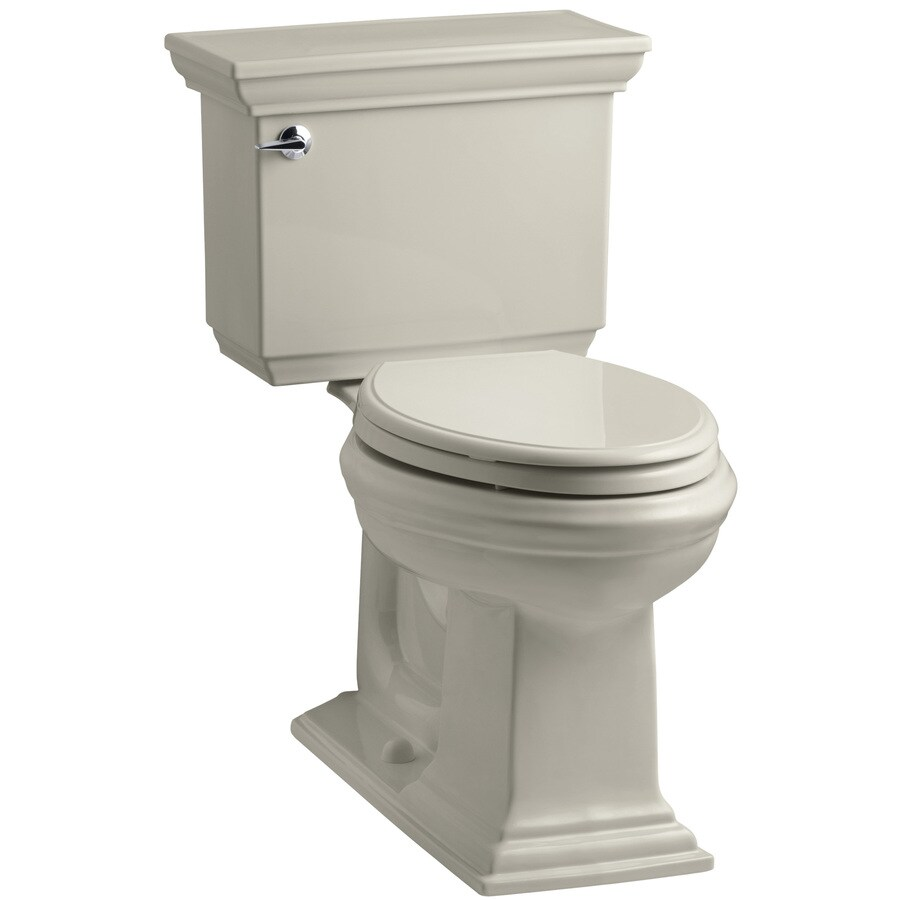 KOHLER Memoirs 1.28-GPF (4.85-LPF) Sandbar WaterSense Elongated Chair Height 2-Piece Toilet