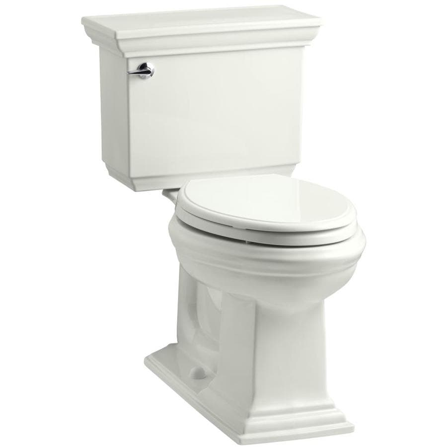 KOHLER Memoirs Dune WaterSense Labeled  Elongated Chair Height 2-piece Toilet 12-in Rough-In Size