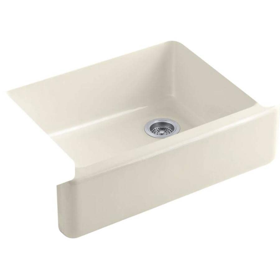 KOHLER Whitehaven 29.68-in X 21.56-in Almond Single-Basin