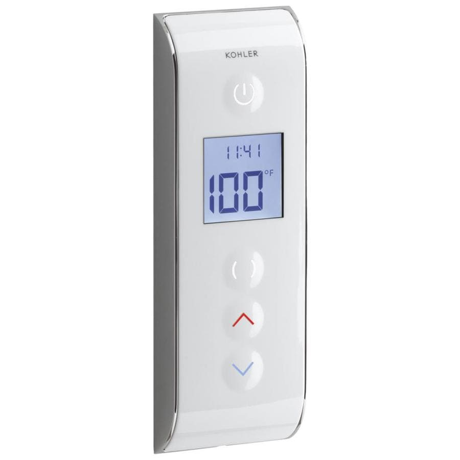 KOHLER Prompt Digital Shower Interface with Eco-Mode Diverter, Portrait Setting, White