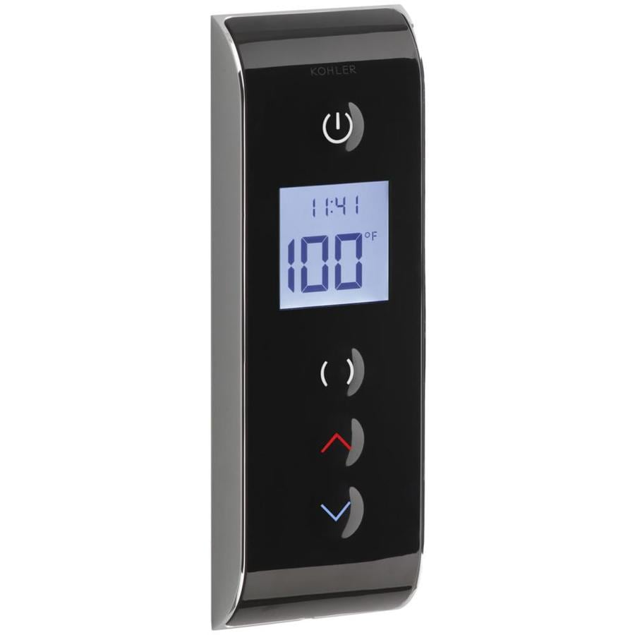 KOHLER Prompt Digital Shower Interface with Eco-Mode Diverter, Portrait Setting, Black