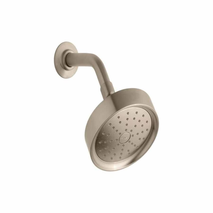 KOHLER Purist 5.5-in 2.0-GPM (7.6-LPM) Vibrant Brushed Bronze 1-Spray WaterSense Showerhead