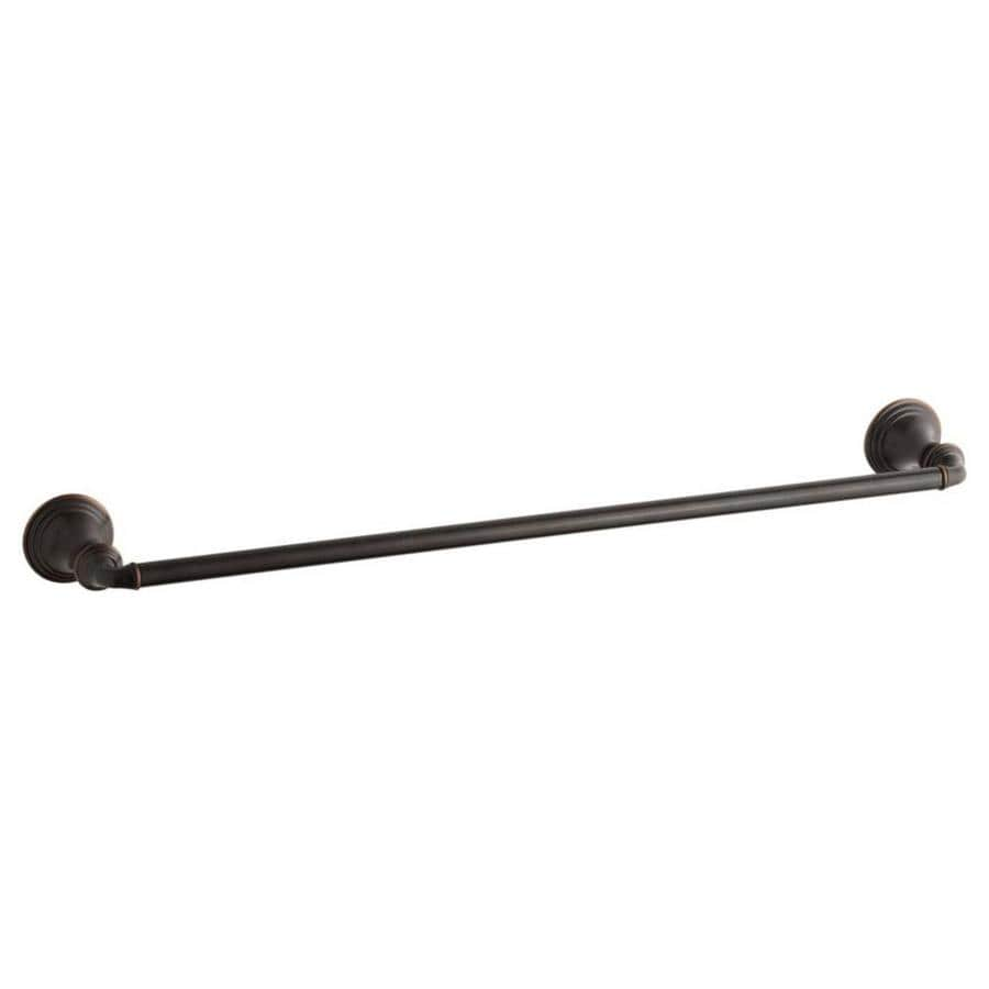KOHLER Devonshire Oil-Rubbed Bronze Single Towel Bar (Common: 24-in; Actual: 26.375-in)