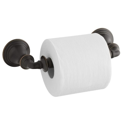 Devonshire Oil Rubbed Bronze Wall Mount Spring Loaded Toilet Paper Holder