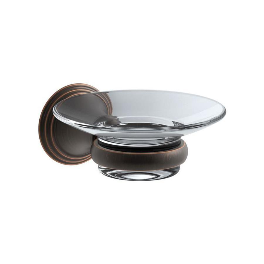 KOHLER Devonshire Oil-Rubbed Bronze Glass Soap Dish