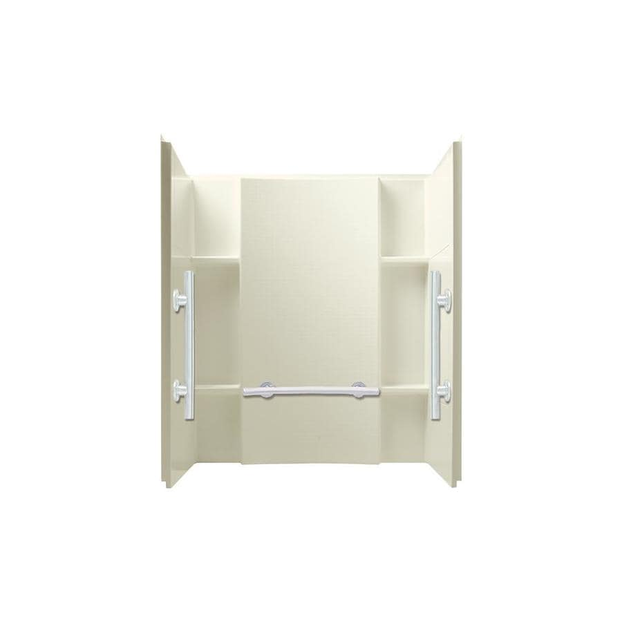 Sterling Accord Biscuit Shower Wall Surround Side And Back Wall Kit (Common: 48-in x 36-in; Actual: 55.125-in x 48-in x 36-in)