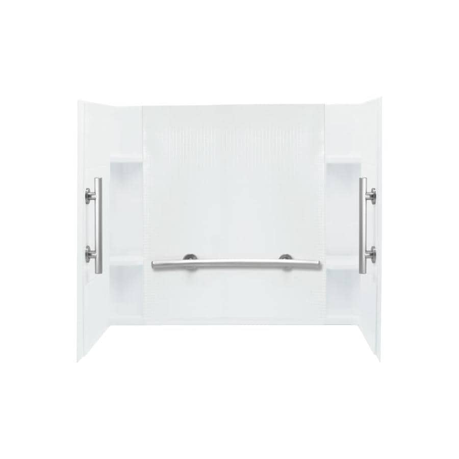 Sterling Accord White Shower Wall Surround Side and Back Panels (Common: 60-in x 36-in; Actual: 55.25-in x 60-in x 36-in)