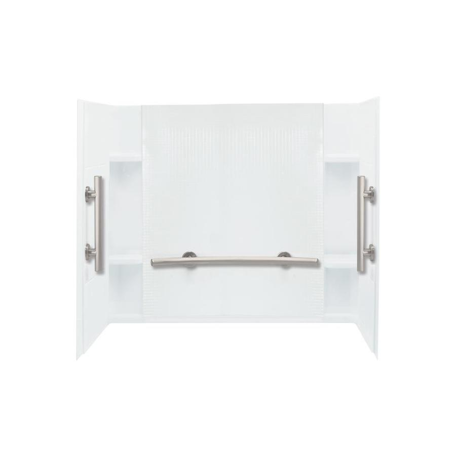 Sterling Accord White Vikrell Bathtub Wall Surround (Common: 60-in x 36-in; Actual: 55.1250-in x 60-in x 36-in)