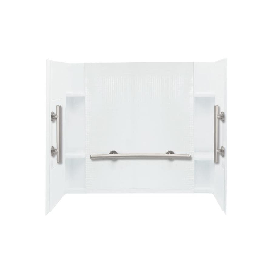 Sterling Accord White Vikrell Bathtub Wall Surround (Common: 60-in x 36-in; Actual: 55.125-in x 60-in x 36-in)