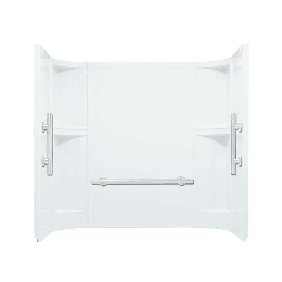 Sterling Accord White Vikrell Bathtub Wall Surround (Common: 60-in x 30-in; Actual: 55-in x 60-in x 30-in)