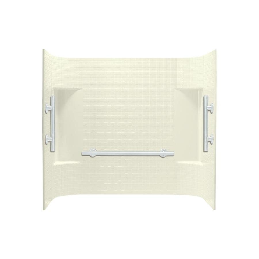 Sterling Accord Biscuit Vikrell Bathtub Wall Surround (Common: 60-in x 32-in; Actual: 56.25-in x 60-in x 31.25-in)