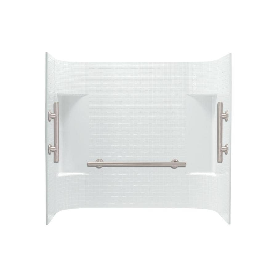 Sterling Accord White Vikrell Bathtub Wall Surround (Common: 60-in x 32-in; Actual: 56.25-in x 60-in x 31.25-in)