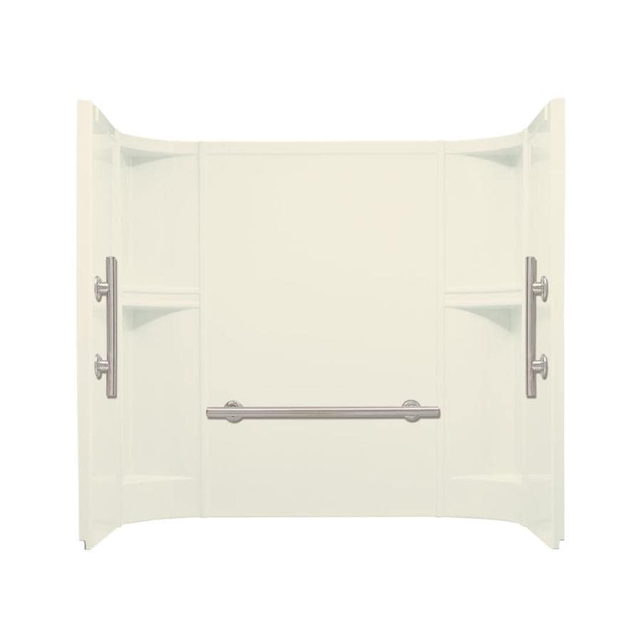 Sterling Accord Biscuit Vikrell Bathtub Wall Surround (Common: 60-in x 30-in; Actual: 55-in x 60-in x 30-in)