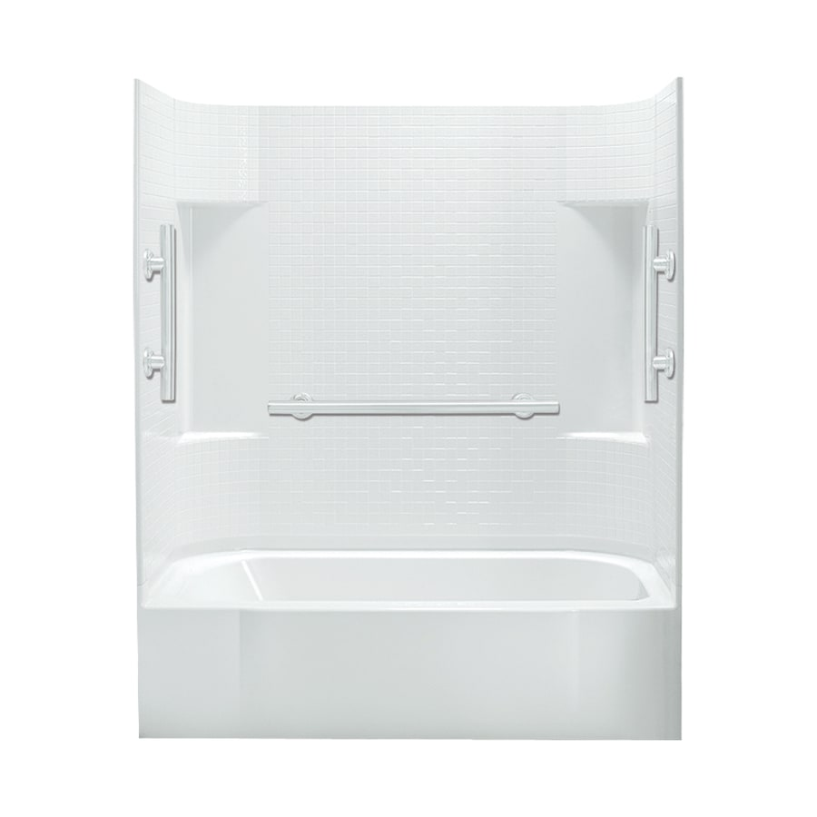 Sterling Accord White Vikrell Rectangular Alcove Bathtub with Right-Hand Drain (Common: 60-in x 30-in; Actual: 72-in x 60-in x 30-in)