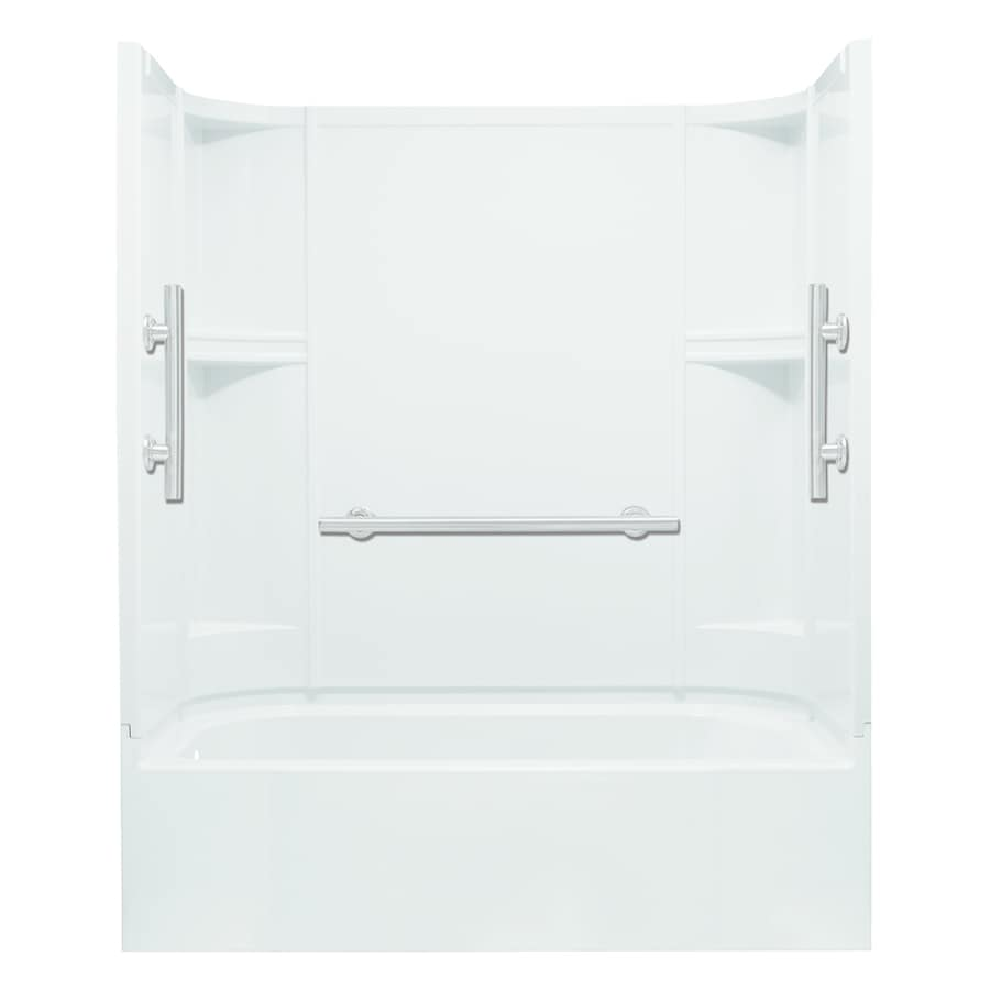 Sterling Accord White Vikrell Rectangular Alcove Bathtub with Left-Hand Drain (Common: 60-in x 30-in; Actual: 72-in x 60-in x 30-in)