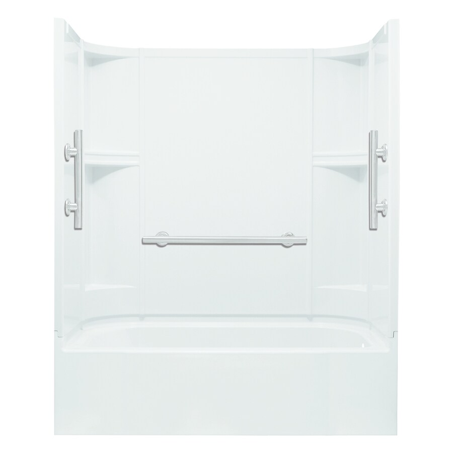 Sterling Accord White Vikrell Rectangular Alcove Bathtub with Right-Hand Drain (Common: 30-in x 60-in; Actual: 72-in x 30-in x 60-in)
