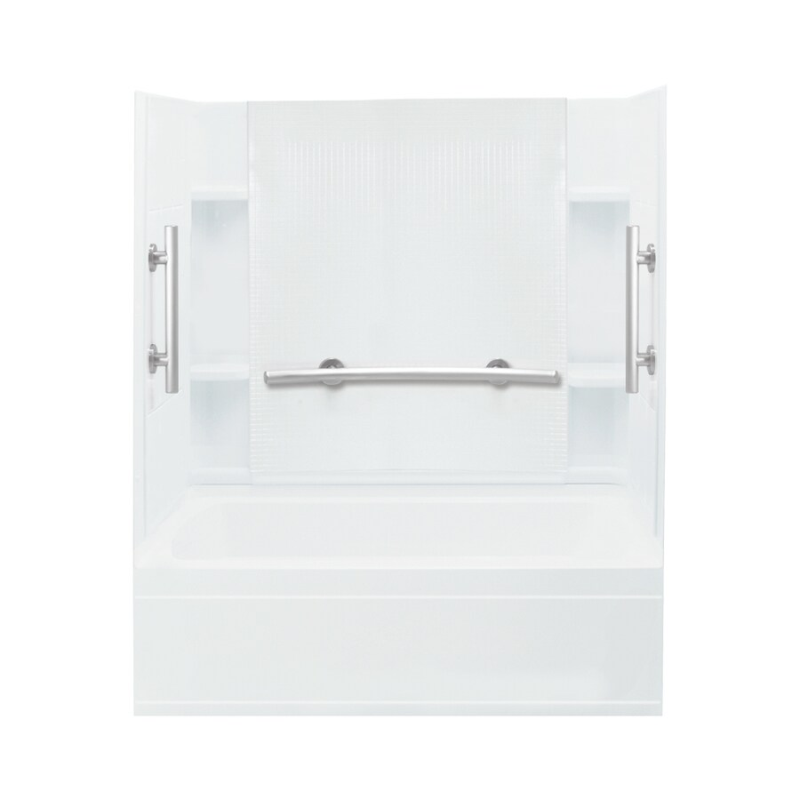 Sterling Accord White Vikrell Rectangular Alcove Bathtub with Left-Hand Drain (Common: 60-in x 32-in; Actual: 74.25-in x 60-in x 32-in)