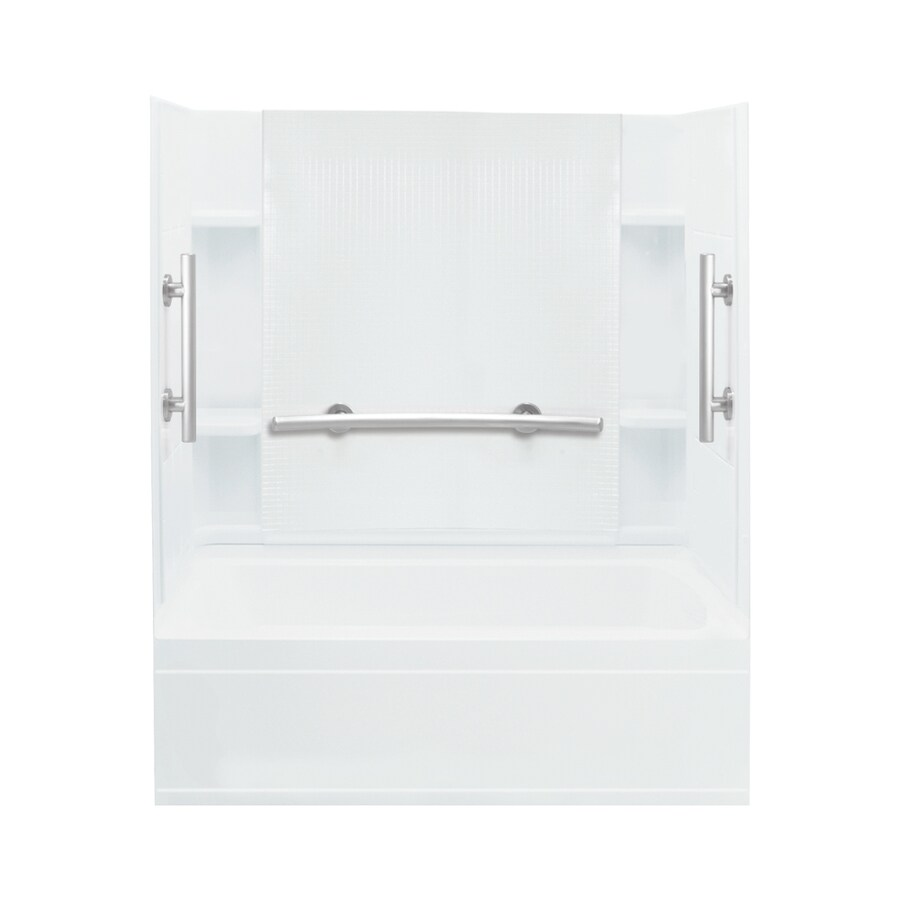 Sterling Accord White Vikrell Rectangular Alcove Bathtub with Right-Hand Drain (Common: 60-in x 32-in; Actual: 74.25-in x 60-in x 32-in)