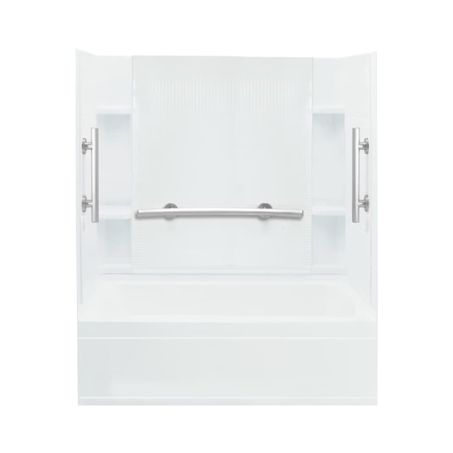Sterling Accord White Vikrell Rectangular Alcove Bathtub with Right-Hand Drain (Common: 60-in x 36-in; Actual: 76.25-in x 60-in x 36-in)