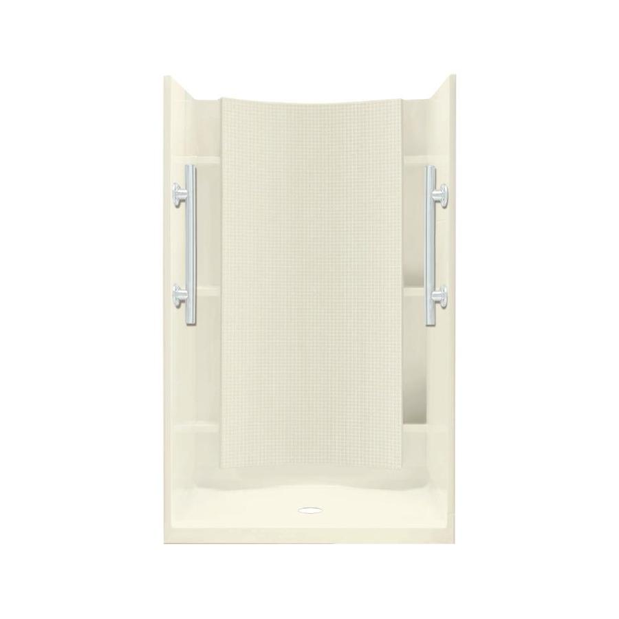 Sterling Accord Biscuit 4-Piece Alcove Shower Kit (Common: 36-in x 36-in; Actual: 71.25-in x 36-in x 36-in)