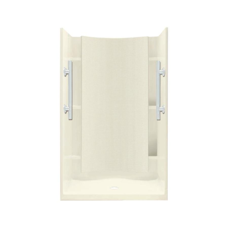 Sterling Accord Biscuit 4-Piece Alcove Shower Kit (Common: 42-in x 36-in; Actual: 75.75-in x 42-in x 36-in)