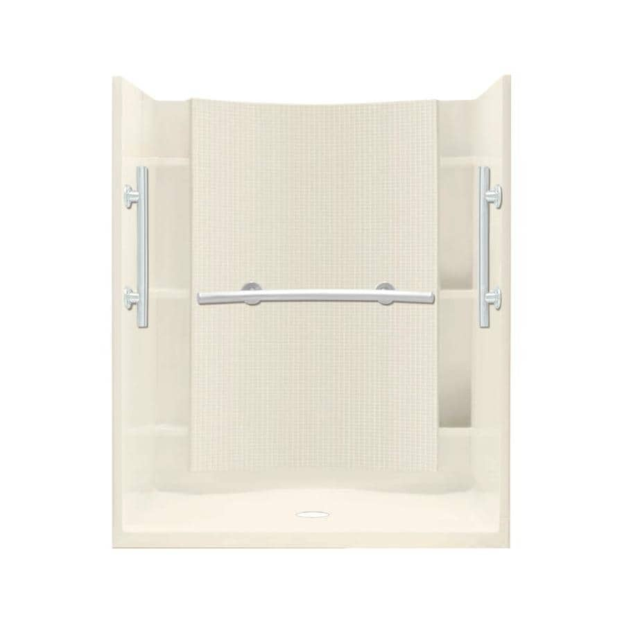 Sterling Accord Biscuit 4-Piece Alcove Shower Kit (Common: 48-in x 36-in; Actual: 75.75-in x 48-in x 36-in)