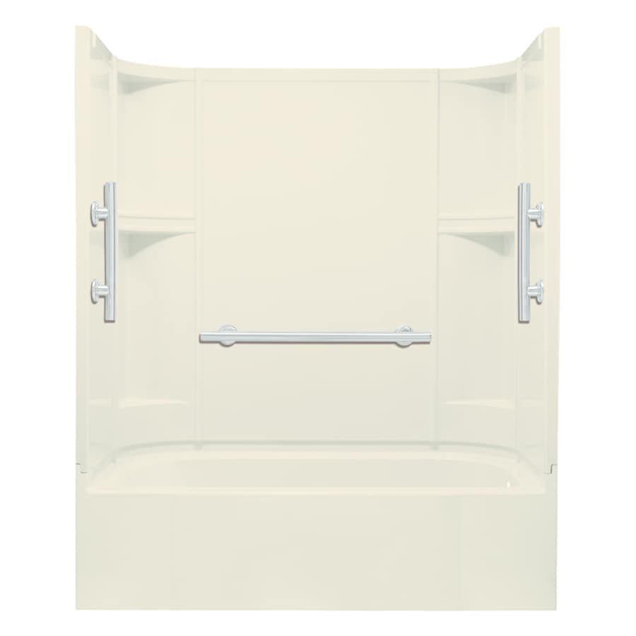 Sterling Accord 60-in Biscuit Vikrell Alcove Bathtub with Right-Hand Drain