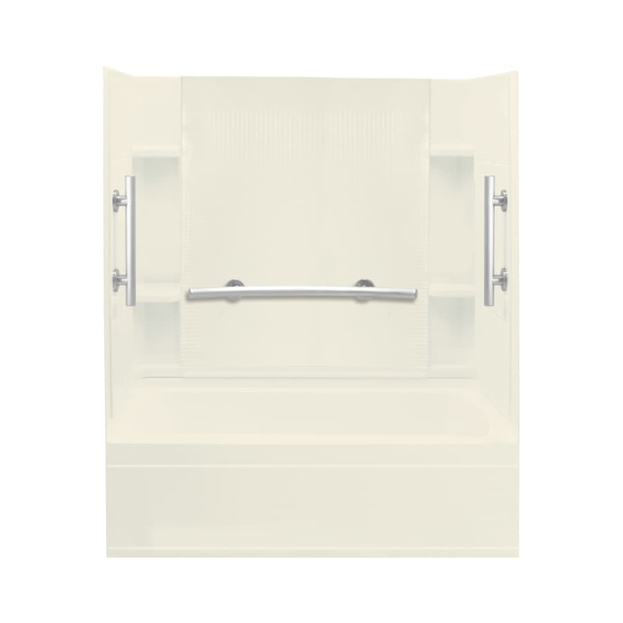 Sterling Accord Biscuit Vikrell Rectangular Alcove Bathtub with Right-Hand Drain (Common: 60-in x 32-in; Actual: 74.25-in x 60-in x 32-in)