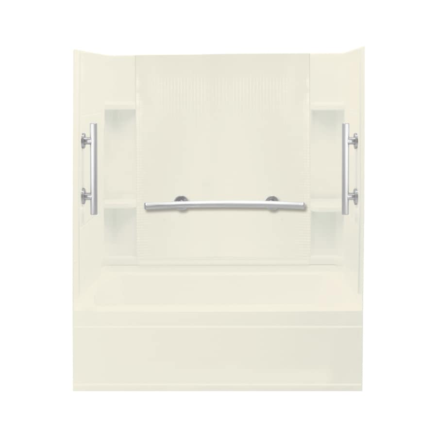 Sterling Accord Biscuit Vikrell Rectangular Alcove Bathtub with Left-Hand Drain (Common: 60-in x 36-in; Actual: 76.25-in x 60-in x 36-in)